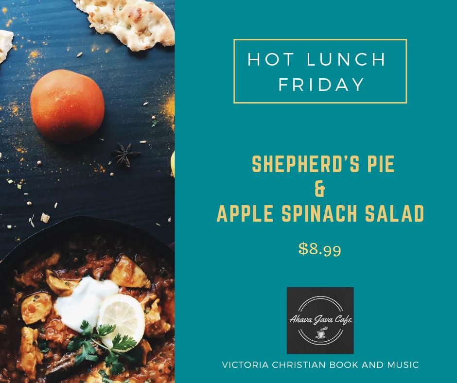 Shepherd's Pie & Apple Spinach Salad